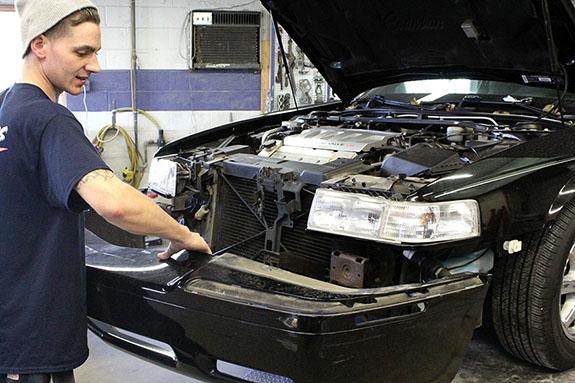 Repairing a bumper